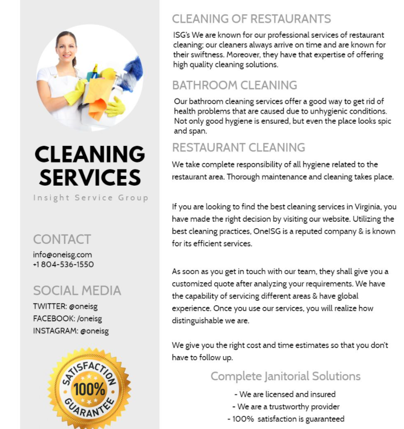 What Do Commercial Cleaning Services Offer
